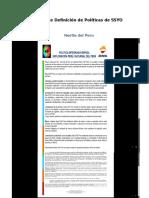 Ejemplos de Definición de Políticas de SSYO