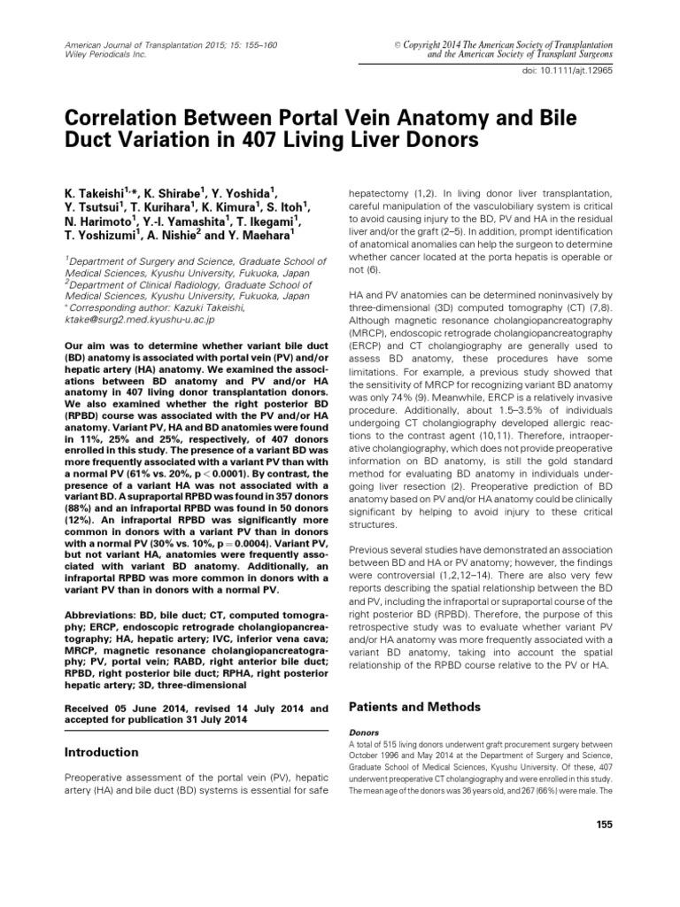 Takeishi Et Al-2015-American Journal of Transplantation | Liver | Ct ...