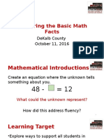 Mastering the Basic Math Facts As