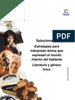 Solucionario Clase 18 Estrategias para interpretar textos que expresan el mundo interior del hablante 2016 CES.pdf