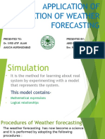 Application of Simulation of Weather Forecasting