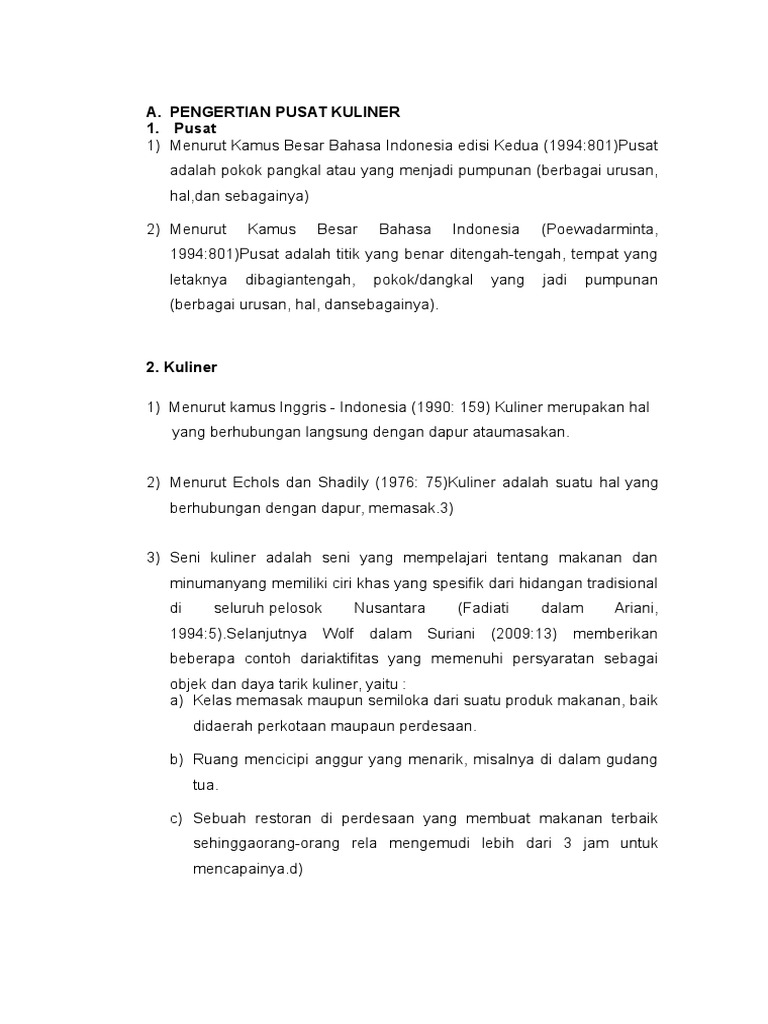PENGERTIAN PUSAT KULINER.docx