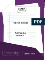Actividades de La Unidad 1 Cálculo Integral