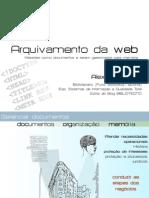 ARQUIVAMENTO DA WEB
