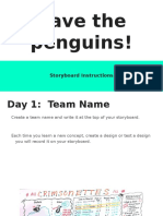 save the penguins  storyboard use pptx