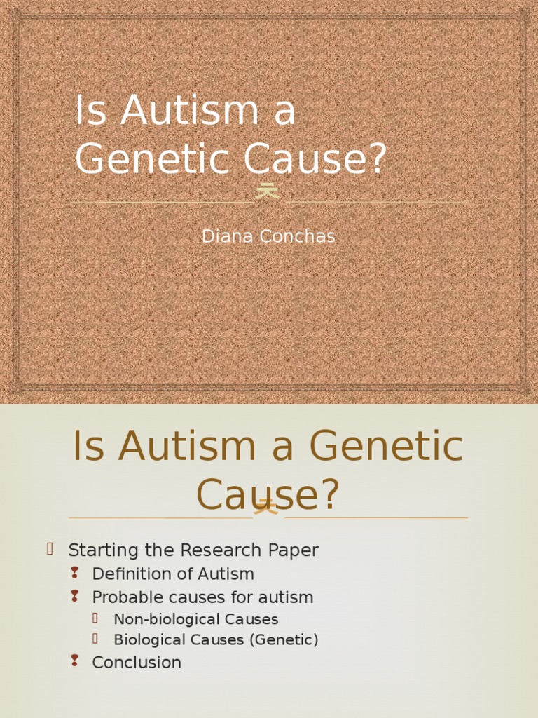 biological causes of autism