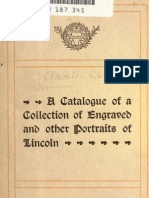 (1899) Catalogue of a Collection of Engraved & Other portraits of Lincoln