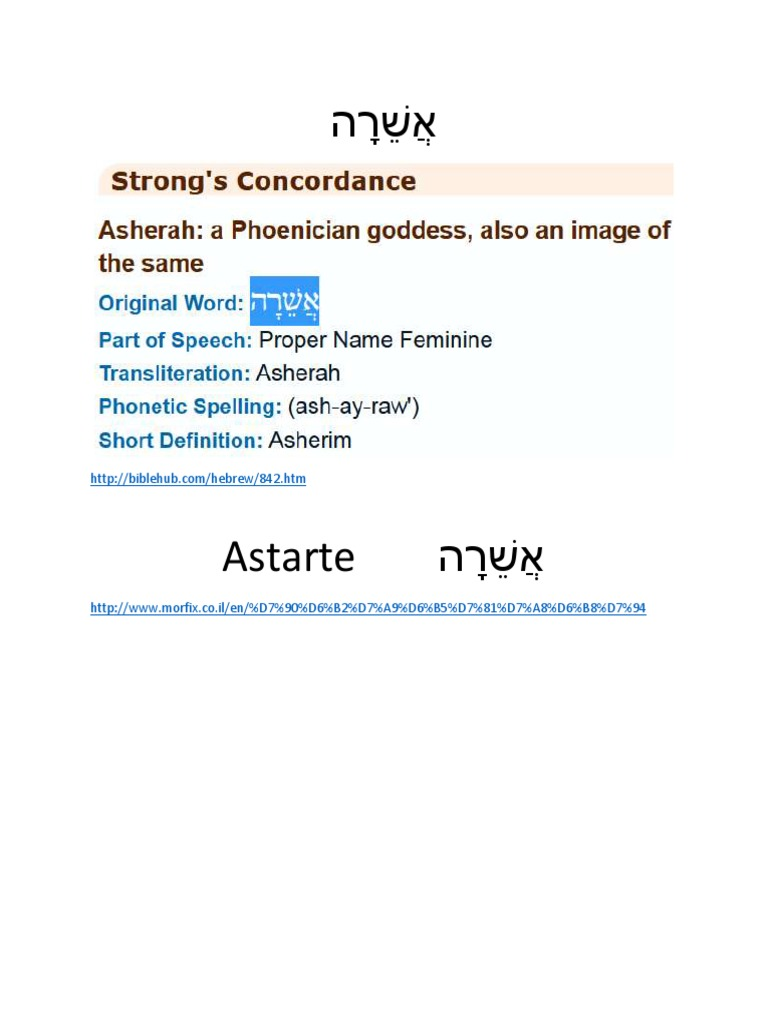 Asherah Hebrew | Levantine Mythology | Ancient Near East