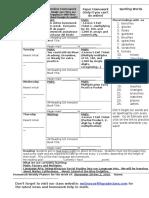 Homework Planner 2016-17 (Nov. 28-Dec.2)