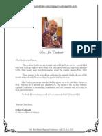 Fr Joe's Message Final