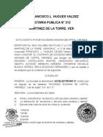Acta Constitutiva PARA ENTREGAR