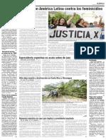 Marchas en América Latina Contra Los Feminicidios