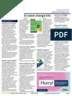Pharmacy Daily for Tue 29 Nov 2016 - Meds name change kits, Qantas meds update, Harvey slams TGA 'light touch', Guild Update and much more