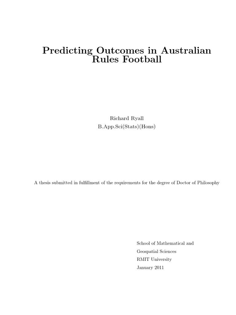 Ryall | Prediction | Australian Rules Football