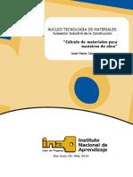 Calculo de Materiales Para Mo - Material Didactico 2014-Ina