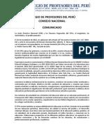 Comunicado - Consejo Nacional del CPPe