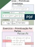 Exercícios-Primitivas-Imediatas