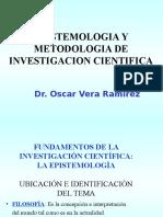 Epistemologia y Metodologia de La Investigacion Cientifica - Ing Mecanica
