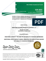 ICC-ES Report Firestone TPO Roofing Material
