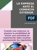 La Empresa Ante El Comercio Exterior