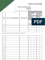 Formato de Inspeccion de Herramientas 11 41068