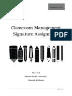 classroom management signature assignment