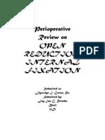 Perioperative of ORIF