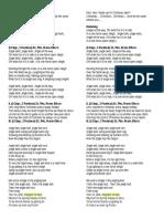 Lyrics Chrstmas