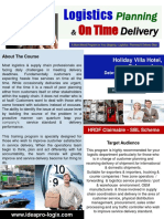 Logistics Planning & Delivery OnTime Aug2016