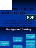 Diabetes Care in Hospitalized