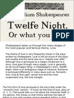 twelfth night essay