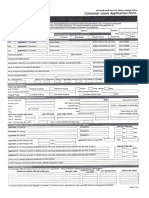 Personal Consumer Loan Application Form