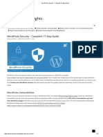 WordPress Security - Complete 17 Step Guide