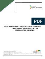 Reglamento de Construccion e Imagen Urbana Del Municipio de Las Margaritas, Chiapas