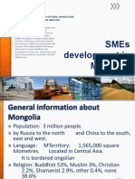 SMEs Development in Mongolia