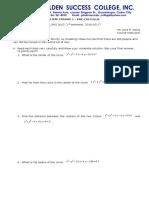 Pre-calculus - First Quiz