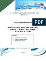 Residuos Sólidos, Tratamiento Jurídico a Nivel Nacional, Regional y Local (1)