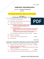 Suggested Answers for January 2008 CXC IT Theory Examination
