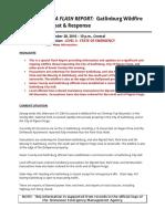 TEMA Flash Report -Gatlinburg Wildfire Threat 11-28-16 10 p.m. Central