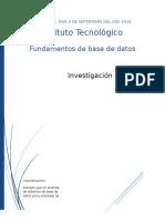 Investigacion Normalizacion Base de datos.