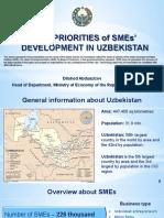 Key Priorities of SMEs' Development in Uzbekistan