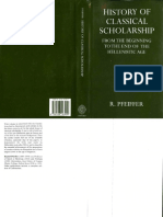 [Rudolph Pfeiffer] History of Classical Scholarship
