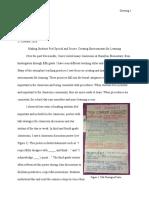 classroom observation essay 1