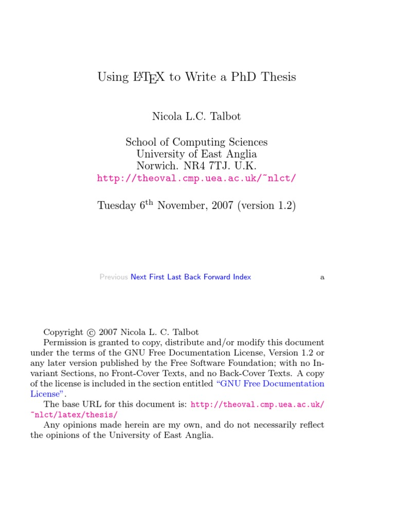 The font - Thesis in LaTeX