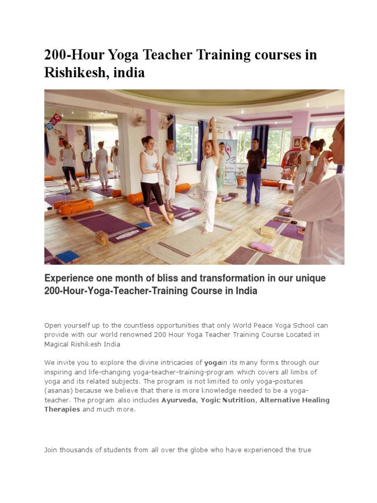 200 Hour Yoga Teacher Training Course In India Asana Yoga