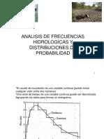 1 Clase 6 Analisis de Frecuencias Hidrologicas y Distribuciones de Probabilidad