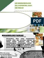 Kuliah 1 Mikroorganisme Industri, Pangan Dan Kedokteran