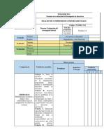 Ejemplo formato de evaluación del desempeño