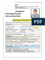 3. Incoming Exchange Student Application Form