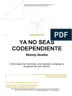 Ya No Seas Codependiente Melody Beattie